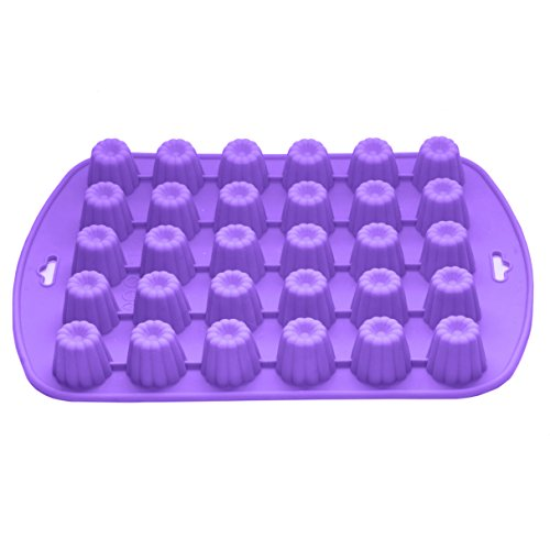 Bakerpan Silicone Chocolate Mold, 30 Cavities, Jelly and Candy Mold, Flower Shape -