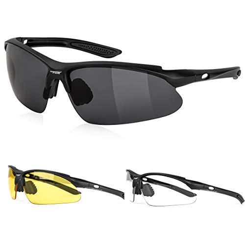 517c1e3992d9 BATFOX Mens Sports Sunglasses Glasses Polarized for Men Women Youth Running  Cycling Baseball Fishing Driving 100% UV Protection Interchangeable Lenses  TR90 ...