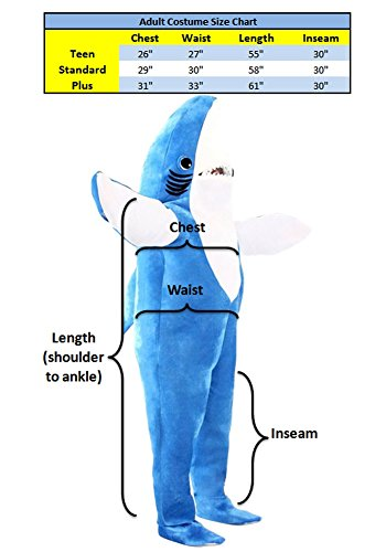 Katy Perry Left Shark Adult Plus Costume (XX-Large) by Costume Agent (Image #3)