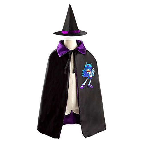The Shadow Cosplay Costume Hedgehog (Dab Sonic The Hedgehog Kids Halloween Party Costume Cloak Wizard Witch Cape With)