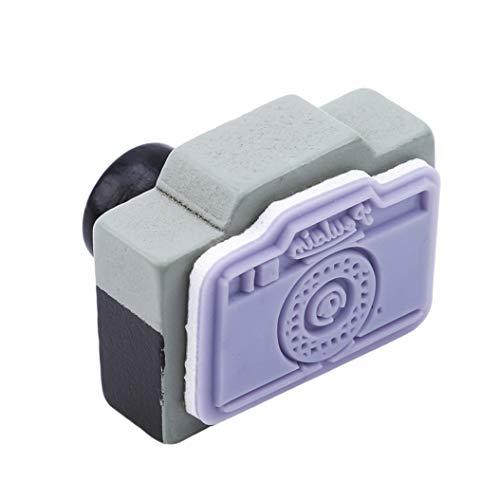 LZIYAN Camera Pattern Stamp Seal Retro Mini Wooden Seal Stamp DIY Craft Seal Diary Decoration Gift For Children,Red by LZIYAN (Image #6)