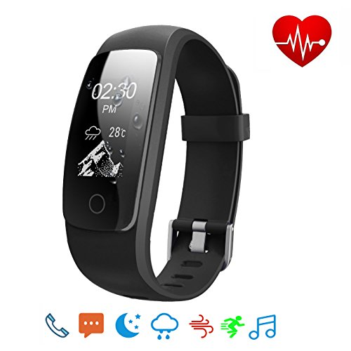 Ativafit Fitness Tracker Heart Rate Monitor Sleep Monitor Calorie Counter Waterproof Weather Mode Multi Sports Mode Activity Tracker Smart Watch for iPhone & Android Phone