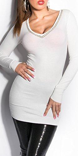 Blanco Store - Jerséi - Manga larga - para mujer crema
