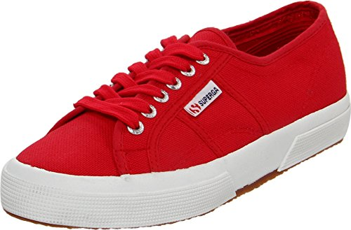 Superga Unisex 2750 Cotu Classic Fashion Sneaker,Maroon Red,37 EU/6.5 M Women's US/5 M US Men's 2750 Cotu Classic