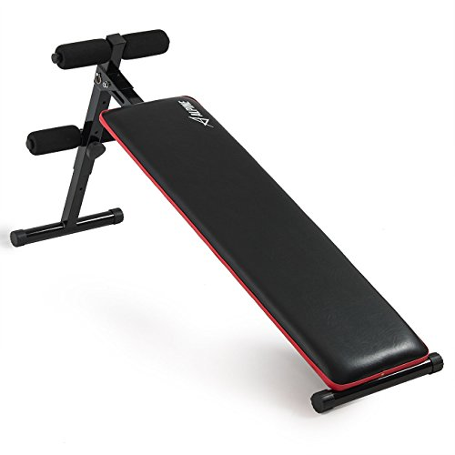 Akonza Adjustable Decline Sit Up Bench Crunch Fitness Indoor Gym Exercise Incline Bench -Black by Akonza