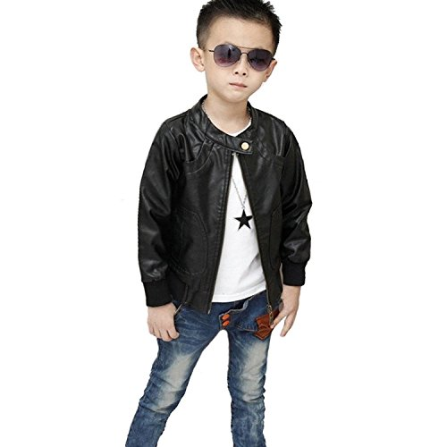Fashion Trendy Stand Collar Leather Outwear product image