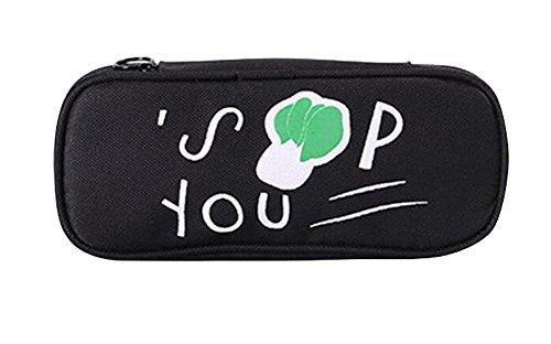 Cute Canvas Pencil Case Pouch Stationery Bag Makeup Case #02