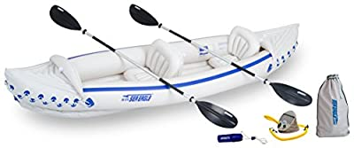 SE370K_D Sea Eagle SE370 Inflatable Sport Kayak Deluxe Package by Sea Eagle
