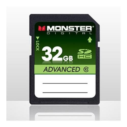 Monster Digital 32GB SDHC SD Memory Card Class