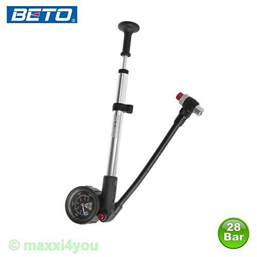 Beto Alu Dämpferpumpe MP35 mit Manometer Fahrradpumpe Luftpumpe Pumpe - 01220102
