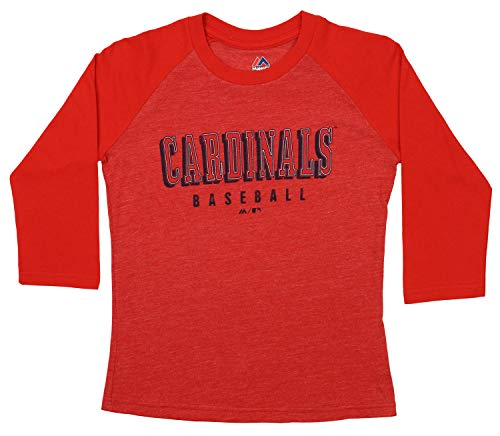 Outerstuff MLB Youth (8-18) Baseball Academy 3/4 Sleeve Raglan Tee, St. Louis Cardinals Small (8) ()