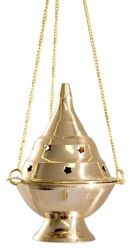 Vrinda® Brass Hanging Censer/charcoal Incense Burner - 6'' ()