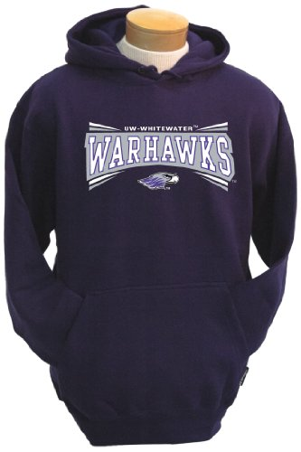 NCAA Wisconsin Whitewater Warhawks Men's Condor Hooded Sweatshirt (Purple, X-Large)