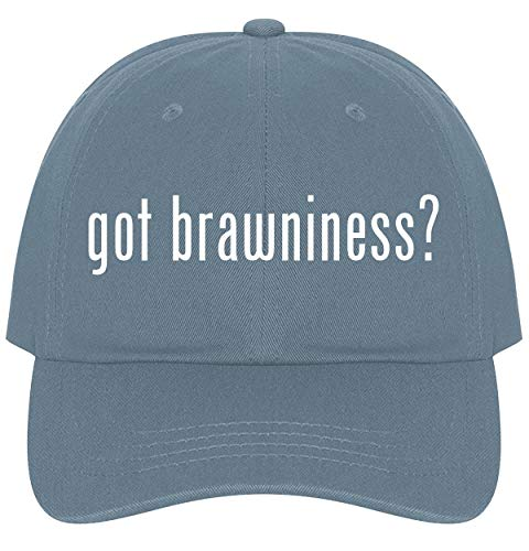 The Town Butler got Brawniness? - A Nice Comfortable Adjustable Dad Hat Cap, Light Blue