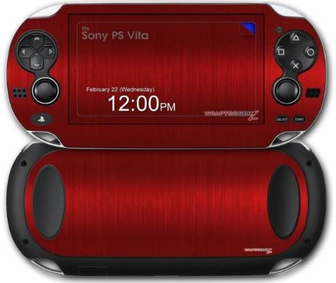 Amazon.com: Sony PS Vita Skin Brushed Metal Red by ...