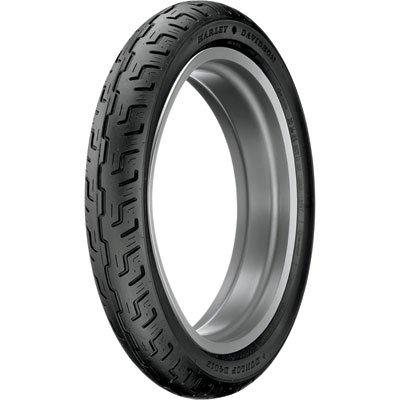 100/90-19 (57H) Dunlop D401 Front Motorcycle Tire Black Wall for Harley-Davidson Dyna Super Glide FXD 2007-2010
