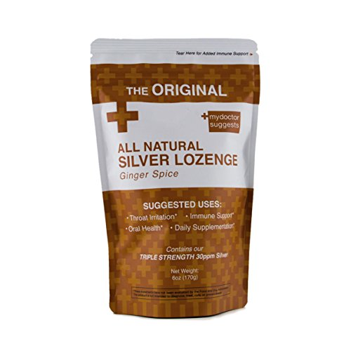 All Natural Silver Lozenges - Ginger Spice: The Perfect Cough Drop for Cough, Throat & Mouth Health or Even Daily Supplementation and Immune Support - Contains 30ppm Silver Solution in Each Drop