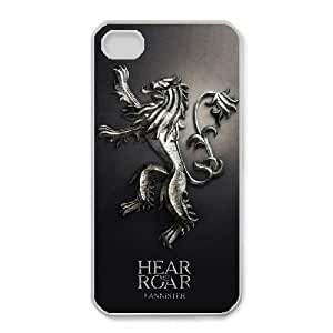 Unique Design Cases Ncwdv iPhone 4,4S Cell Phone Case Game of Thrones Printed Cover Protector