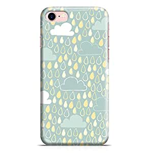 Loud Universe iPhone 8 Case Clouds And Rain Drops Cute Pattern Sleek Modern Design Wrap Around iPhone 8 Cover