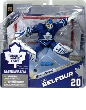 (McFarlane Toys NHL Sports Picks Canada Exclusive Series 8 Action Figure Ed Belfour (Toronto Maple Leafs) Blue Jersey Variant)