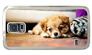 Hipster Samsung Galaxy S5 Case cute covers Cute little Puppy PC Transparent for Samsung S5