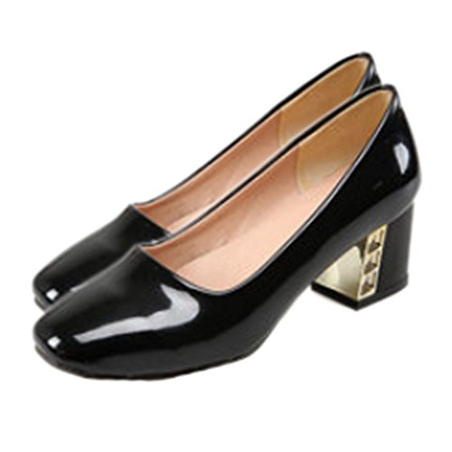 Work 37 Thin Middle Heel black Shoes Low cut Awwzxqgt