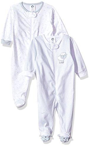 Gerber Baby Girls 2 Pack Zip Front Sleep 'n Play, LIL' Lamb, 0-3 (Lamb Zipper)