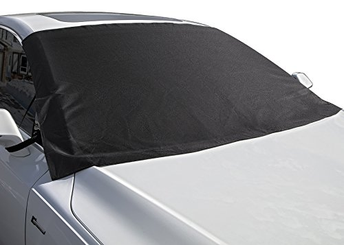 OxGord Windshield Snow Cover Ice Removal Wiper Visor Protector All Weather Winter Summer Auto Sun Shade for Cars Trucks Vans and SUVs Stop Scraping with a Brush or Shovel (Best Cars For Winter Weather)