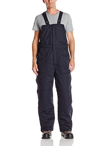 - Bulwark Flame Resistant 7 oz Twill Cotton/Nylon Excel FR ComforTouch Long Deluxe Insulated Bib Overall with Concealed Snap Closure, Navy, 2X-Large