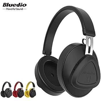 fc58db455cf Bluedio AUDIFONOS TMS audífonos Bluetooth Headset con cancelación de rudio  ANC 40 Horas de música Continua (Negro)