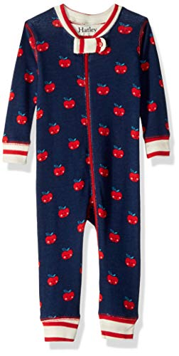 Hatley Baby Girls Organic Cotton Sleepers, Smiling Apples, 0-3 Months