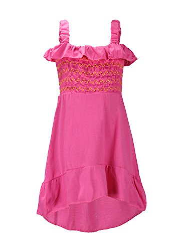 S.W.A.K. Girls Ruffle Smocked Sundress, Pink, Size - Smocked Sundress Girls