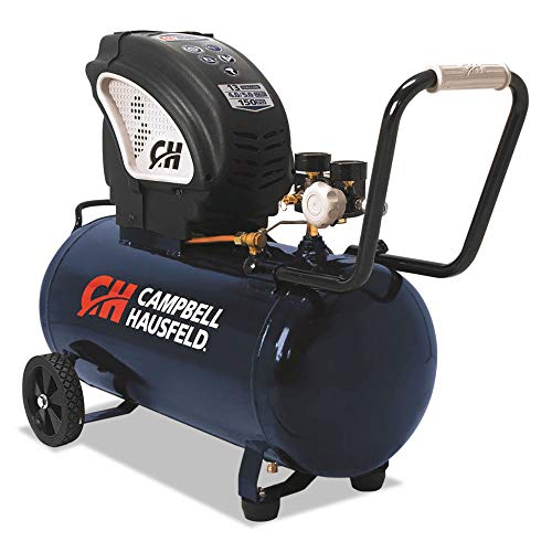 Air Compressor, Portable, 13 Gallon Tank, Horizontal Tank, Oil Free (Campbell Hausfeld DC130010)