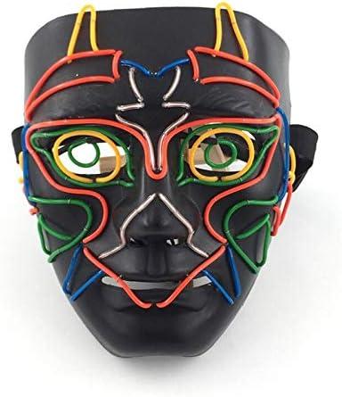 Máscara de Halloween Cara Llena Cubierta Colorida línea EL máscara ...