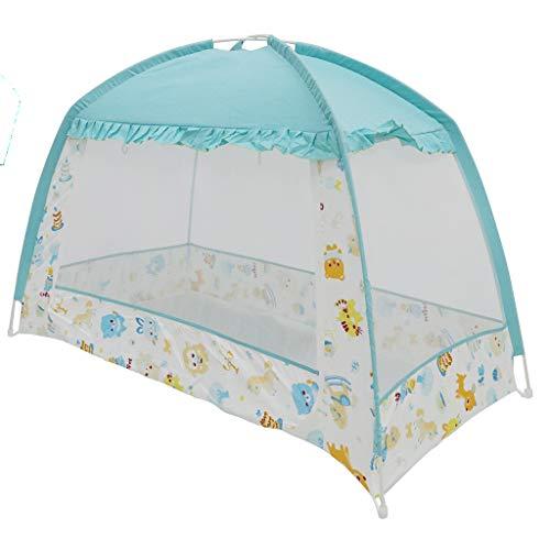 D DOLITY Mosquitera De Cama Infantil Portáil Carpa Mongolia Pop-up Plegable Anti-insectos Para Bebés Niños - Azul,...