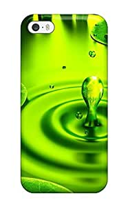 Hot Style UDuzSDj4072tnCjE Protective Case Cover For Iphone5/5s(ladybug On A Leaf Red Lady Bug Green Water Animal Other)