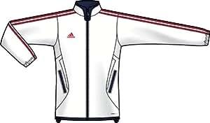 adidas Women's Tiro 11 Training Jacket, Red/White/Blue, Small