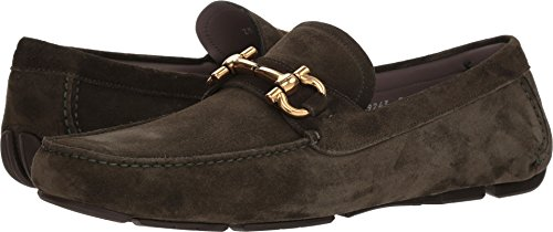 - Salvatore Ferragamo Men's Parigi Bit Suede Driver Shoes, Alloro Green, 8 M US