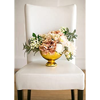 Amazon Snk Enterprises Sei Gold Mercury Glass Bowl Vase