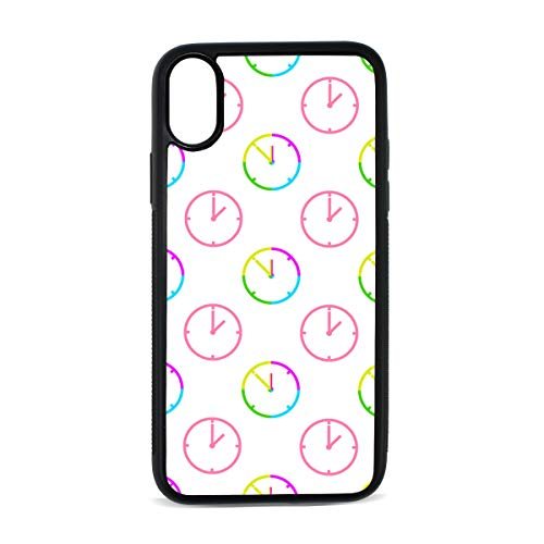 Case for iPhone Wall Clock Life Decoration Timetable Digital Print TPU Pc Pearl Plate Cover Phone Hard Case Cell Phone Accessories Compatible with Protective Apple Iphonex/xs Case 5.8 Inch