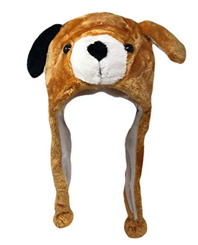 Plush Fun Animal Beanie Hat - One Size
