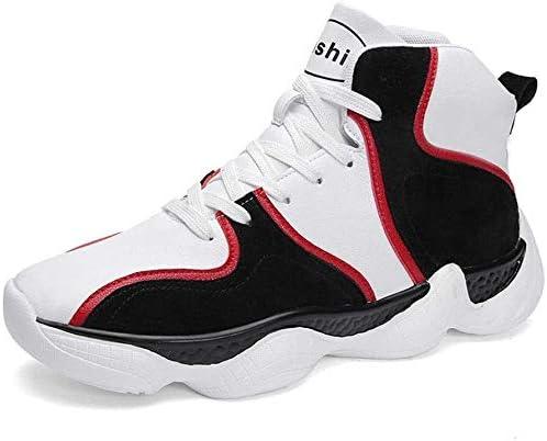 ハイトップの学生バスケットボールシューズ、ワイルドカジュアルシューズレースアップの耐摩耗性の靴 (Color : Black, Size : 40EU)
