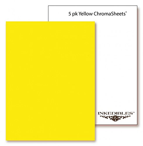 YummyInks ™ Brand: Frosting ChromaSheets 5 sheets - 8.5in x 11in - Yellow
