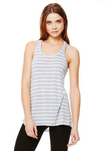 Bella Canvas - Camiseta - para mujer Heather/White