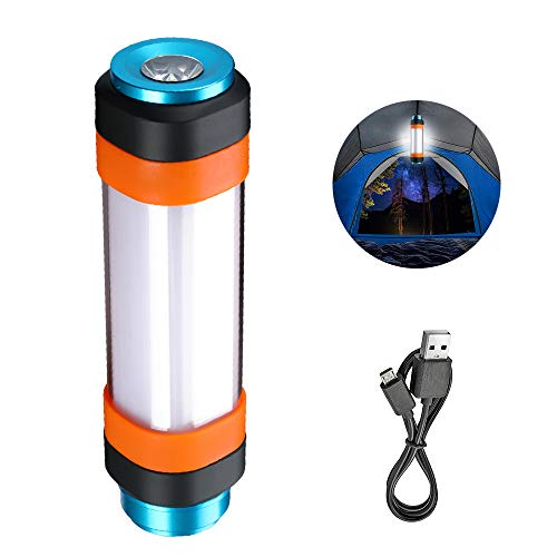 Supfire Camping Lantern,Mosquito Multifunctional Rechargeable Camping Lantern with 18650 Battery(Included) Magnetic Base Light Waterproof 6 Modes Best for Caming,Hiking,Wild Adventure