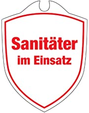 KLK Osoby sanitarne w użyciu tabliczki samochodowej, czerwone, One Size