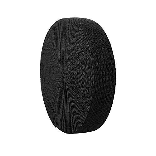 Elastic Bands Spool Sewing Band Flat Elastic Cord, 11 Yard (Black, 0.75 ()