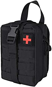 IronSeals Rip-Away EMT Pouch Molle Pouch Ifak Pouch Medical First Aid Kit Utility Pouch 1000D Nylon Military T