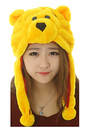 42 styles Pets Unisex Plush Animal Hats Costume Hood Toys Performance props (winnie the -