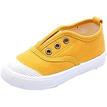 Majony Durable fashion Baby's Boy's Girl's Canvas Light Weight Slip-On Sneakers Running Shoe